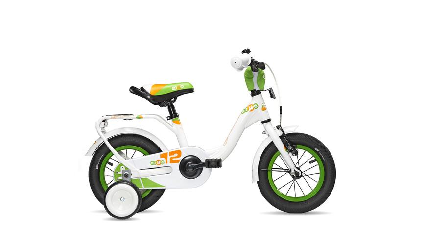 s'cool niXe 12 Rower dziecięcy  zielony/biały